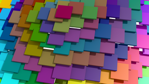 Colored Squares 1 by dedwarmo