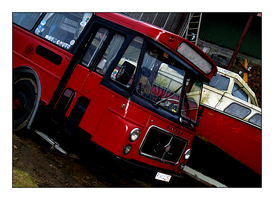 My big red bus by aquadore
