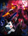 Megatron vs. Galvatron by Astro-L
