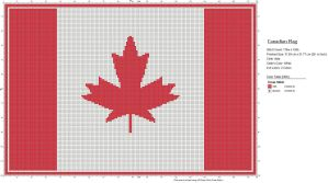 Canadian flag chart by IvySun