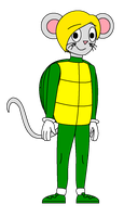 TCB - Momo Mike's Halloween turtle costume by Magic-Kristina-KW