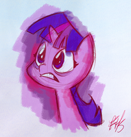 Twilight Sparkle Color Sketch by FluttershytheKind