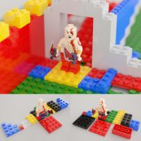 LEGO Kratos and random blocks by xQUATROx