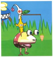 bulborb and pikmin by Arkro