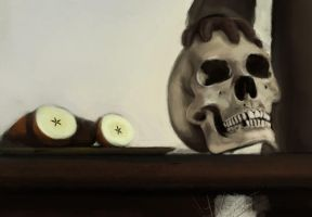 Apples and a Skull by clz