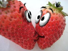 strawberries in love by Iggy-design