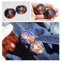 Doctor Who Buttons by Avender