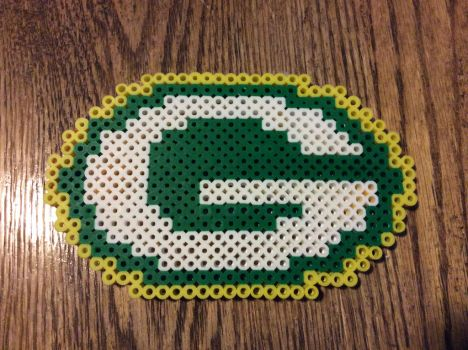 Green Bay Packers Coaster by Pixelated-Broomstick