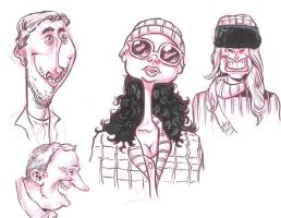 Face Sketches 3 by JeffVictor