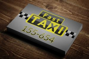 Taxi Service Business Card Template by BorceMarkoski