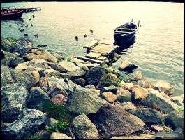 small boat. by maybeybe