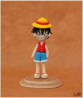 Fimo Luffy One Piece by LolleBijoux