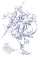 Ragnarok Knight-Pencils by StriderDen
