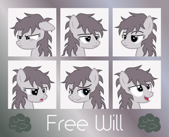 MLP OC Expressions : Free Will by outlaw4rc