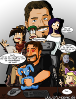 Gronkh and Daedalic by Senselesssquirrel