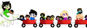 Little red wagons by MalisJuju