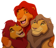 Simba and his Sons by lionobsession