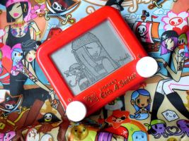 Tokidoki Etch A Sketch by pikajane