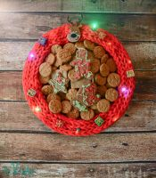 Ugly Christmas Sweater Serving Tray by tikkido
