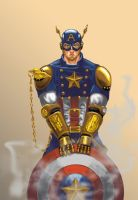 Steampunk Captain America Version 2 by ecelsiore
