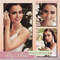 Lily Collins Photopack by zeyneppkuscan