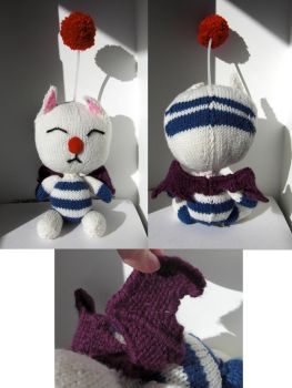 Moogle Plush- Artemicion by TheSerialKnitter