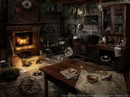 Sleepy Hollow. Kitchen by kidy-kat