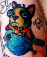 Space Dog Tattoo by lady-decay