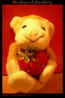 monkey and strawberry by herman-the-handyman
