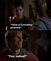 Think of something pleasant - Merthur by FreakyFangirl97