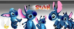Line Of Stitchy Goodness by spatialchaos