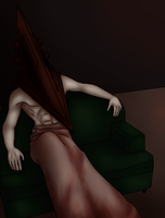 Pyramid Head - Couch by HannaOlsen