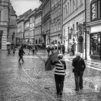 Prague street, rainy day... by vertatp