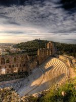 Odeon of Herodes Atticus by piratefuriousteddy