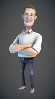 First 3D Caricature by ucupumar