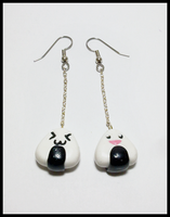 Onigiri earrings by CookingMaru