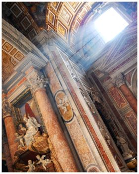 Light in St. Peter's II by OldFashionedCowboy