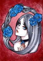 Blue Rose by ArtistiqueMuoi