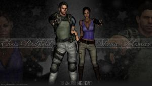 Chris Redfield and Sheva Alomar by JhonyHebert