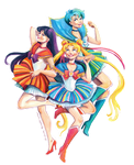 Sailor Moon in a Polish folk way :) by Vasylissa