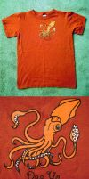 Squid T-shirt by StaceyTheMighty
