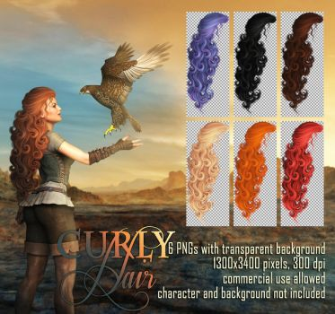 Curly Hair STOCK by Trisste-stocks