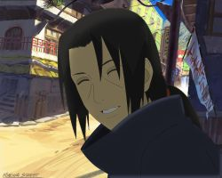 Itachi Smilling by sa3oodeh