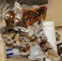 Steampunk Bobcat WIP IX by Phoenix-Cry