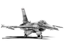 F-16C Aggressor Print Version by Raptorguy