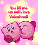 Kirby Valentine's Day Card Version 2 by sonicxjones