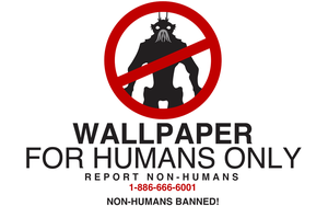 Wallpaper for HUMANS ONLY by Keablr