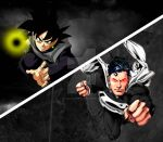 Black Goku vs Platinum Superman by oscar-aburto
