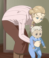 First steps with Mommy by Ciorane