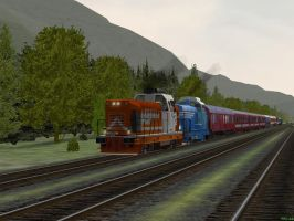 International Train - Rogers Pass by Sadguardian